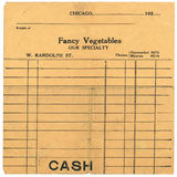 Vintage Sales Receipt from the 1920's Royalty Free Stock Photos