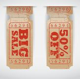 Vintage Sales Ticket Stock Image