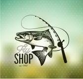 Vintage Salmon fishing emblems Royalty Free Stock Photos