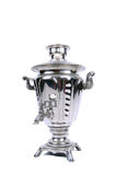 Vintage samovar. Image of famous russian samovar. Machine to make perfect tea Stock Photo