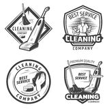 Vintage Sanitation Emblems Stock Photography