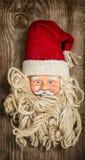 Vintage Santa Claus toy. Nostalgic Christmas background Royalty Free Stock Images