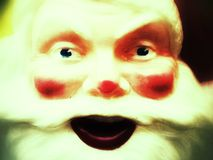 Vintage Santa display high contrast Stock Photo