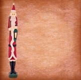Vintage Santa on grunge background Stock Photos