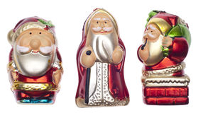 Vintage Santa Holiday Ornaments Royalty Free Stock Photography