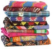 Vintage Sari Plaids Stock Images