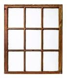 Vintage sash window panel Stock Image