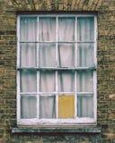Vintage Sash Window. Split Toning Shallow Depth of Field Architecture Details Stock Photography