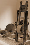 Vintage Sawmill Royalty Free Stock Photos