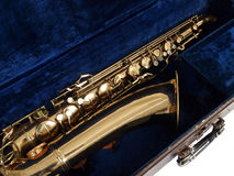 Vintage Sax in Case Royalty Free Stock Photos