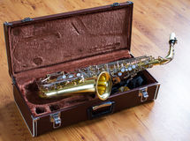 Vintage saxophone Royalty Free Stock Images
