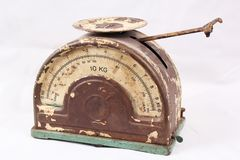 Vintage scales filled with details. Stock Image