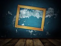Vintage scary blue background Stock Images