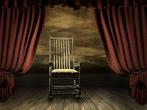 scene with curtain Stock Image