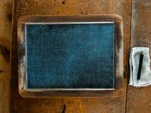 Vintage School Chalkboard Slate Background Stock Photo