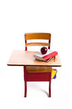 Vintage School Desk Stock Photo