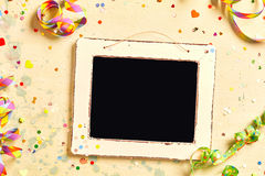 Vintage school slate on a carnival background Royalty Free Stock Photos