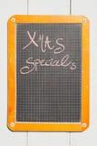 Vintage Schultafel, Kreide, Kreideschrift, Handschrift Royalty Free Stock Photo