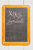 Vintage Schultafel, Kreide, Kreideschrift Royalty Free Stock Images