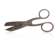 Vintage scissors close-up isolated Royalty Free Stock Photography