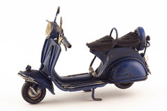 Vintage Scooter. Vintage vespa scooter miniature model Royalty Free Stock Photos