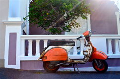 Vintage scooter Royalty Free Stock Photos
