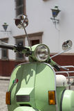 Vintage scooter closeup Stock Image