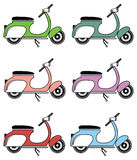 Vintage scooter II  on white background Stock Image