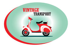 Vintage Scooter illustration Stock Photography