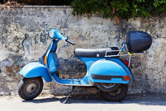 Vintage scooter. Italian vintage scooter in a rather bad condition Royalty Free Stock Image
