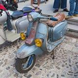 Vintage scooter Lambretta Stock Image