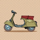 Vintage scooter retro transport Stock Image