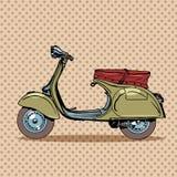 Vintage scooter retro transport Stock Image