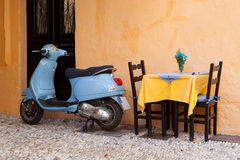 Vintage scooter in Rhodes Royalty Free Stock Image