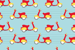 Vintage scooter seamless pattern Royalty Free Stock Photography