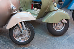 Vintage scooter wheels Stock Image