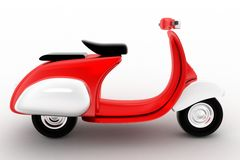 Vintage scooter  on white background Stock Photography