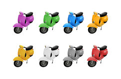 Vintage Scooters Collection Stock Photo