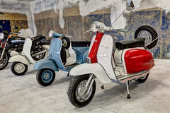 Vintage scooters Lambretta and Vespa Royalty Free Stock Photos