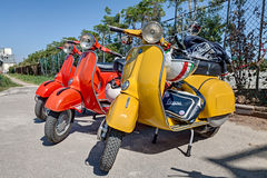 Vintage scooters Vespa Royalty Free Stock Photo