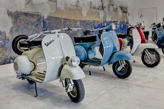 Vintage scooters Vespa and  Lambretta Royalty Free Stock Photography