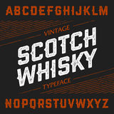 Vintage Scotch Whisky typeface. Ideal font for any design in vintage style vector illustration