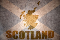 Vintage scotland map Royalty Free Stock Image