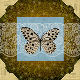 Vintage scrap card Royalty Free Stock Images