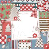 Vintage Scrapbook background for Christmas Royalty Free Stock Photos