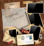 Vintage scrapbook composition Stock Photography