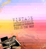 Vintage scrapbook composition with old style Royalty Free Stock Images