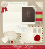 Vintage scrapbook elements Royalty Free Stock Photos