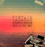 Vintage Scrapbook with hipster background Royalty Free Stock Images