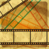 Vintage scratch background with film frame. Vector Eps 10 Royalty Free Stock Photo